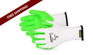 S10LXPB Dexterity® 10-Gauge Cotton/Poly Knit Glove with Hi-Viz Latex Palm Lined with Punkban
